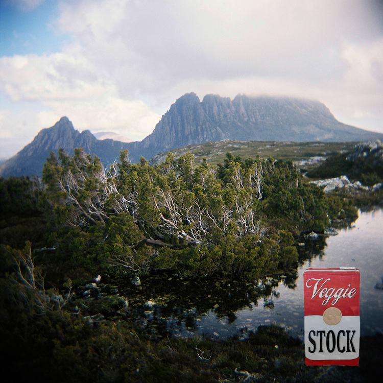 The view of Cradle Mountain from Marion's Lookout, Tasmania, Australia, April 2009.