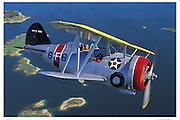 Biplane air-to-air