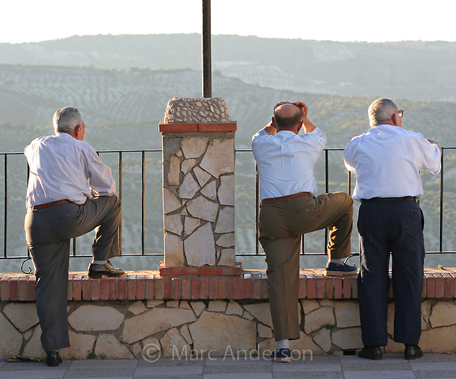 Old Spanish Men in Zuheros, Andalucia, Spain