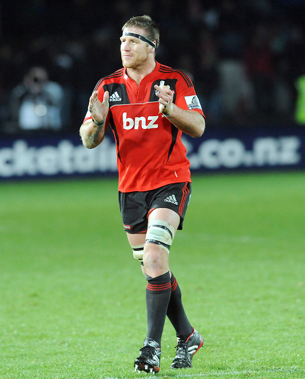 Crusaders Brad Thorn subbed against the Sharks in the Super Rugby match at Trafalgar Park, Nelson, New Zealand, Saturday, June 25, 2011. Credit:NZPA / Ross Setford