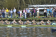 Henley, GREAT BRITAIN,  CUWBC, Cambridge women's blue boat passes Upper Thames RC on it way to victory in the 2012 Women's Boat Race.  Henley Boat Races, Raced on Henley Reach, Henley on Thames, England, Sunday  25/03/2012. [Mandatory Credit, Peter Spurrier/Intersport-images..Bow: Sarah Moir-Porteous, 2: Caroline Reid, 3: Rebecca Pound, 4: Anna Railton, 5: Holly Game, 6: Isabel Boanas-Evans, 7: Fay Sandford, Stroke: Cath Wheeler,Cox: Kate Richards.