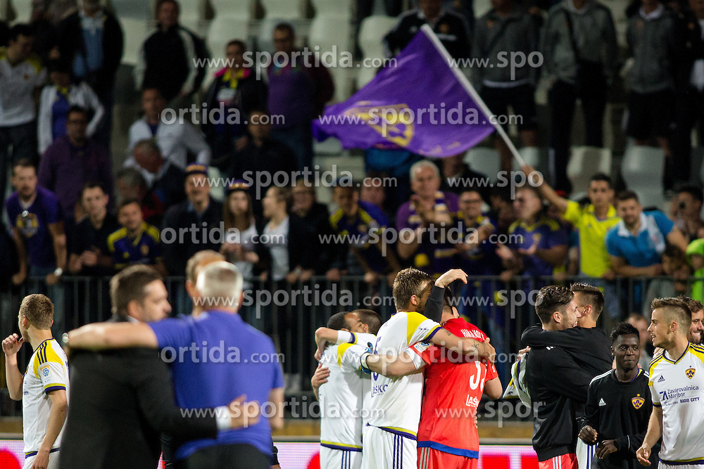 Players and fans of Maribor celebrates victory after penalty shots during football match between NK Celje and NK Maribor in Final of Slovenian Cup 2016, on May 25, 2016 in Stadium Bonifika, Koper, Slovenia. Photo by Matic Klansek Velej / Sportida