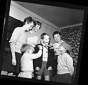 Children play Halloween games at Stephen's, Botanic Road, Glasnevin..28.10.1960