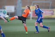 - Forfar Farmington (blue) under 23s v Dundee United Women  in the SWFL Division One at Station Park, Forfar. Photo: David Young<br /> <br />  - &copy; David Young - www.davidyoungphoto.co.uk - email: davidyoungphoto@gmail.com