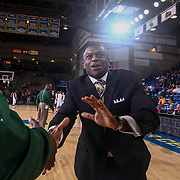 Sanford Warriors Head Coach STAN WATERMAN is introduce to the crowd prior to a Boys Basketball DIAA State Tournament Finals match between the Sanford Warriors and the St. Georges Hawks Saturday, Mar. 12, 2016, at The Bob Carpenter Sports Convocation Center in Newark, DEL.