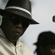 June 17, 2006; Manchester, TN.  2006 Bonnaroo Music Festival. Buddy Guy performs at Bonnaroo 2006.  Photo by Bryan Rinnert