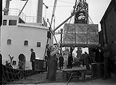 1954 - Loading of kellogg's Corn Flakes  onto ship at North Wall, Dublin