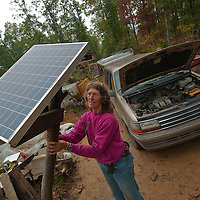 Bobby and Lenora Clark live off the grid in Spencer, Tennessee, providing their own electricity with solar panels