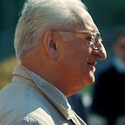 Commendatore Enzo Ferrari, creator of the Ferrari racing cars.