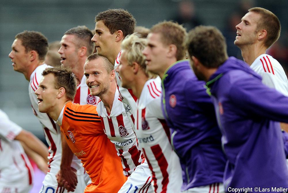 DK Caption:<br /> 20110813, &Aring;lborg, Danmark:<br /> Superliga fodbold, AAB - OB:<br /> AAB vinder 2-1 over OB<br /> Foto: Lars M&oslash;ller<br /> <br /> UK Caption:<br /> 20110813, Aalborg, Denmark:<br /> Superleague football  AAB - OB:<br /> AAB vinder 2-1 over OB<br /> Photo: Lars Moeller