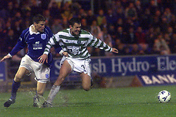 Darren Dods and Chris Hutton during a St Johnstone v Celtc game in 2000..