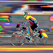 Cyclist in colour