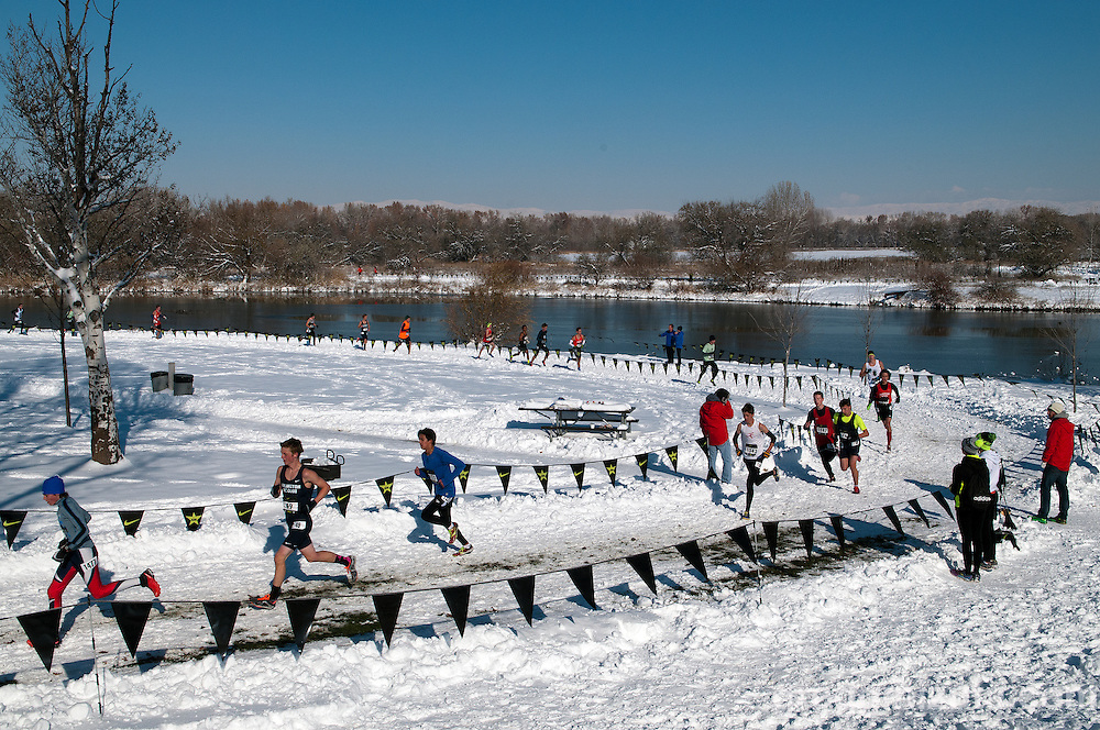 NXN Northwest boys varsity race #1, November 15, 2014 at Eagle Island State Park, Eagle, Idaho.