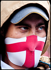 SEP 07 2013 EDL protest and counter protest in London