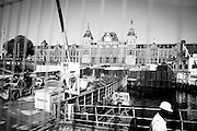 A view of the above ground works for the new north/south metro line being built in Amsterdam. Image © Angelos Giotopoulos/Falcon Photo Agency.