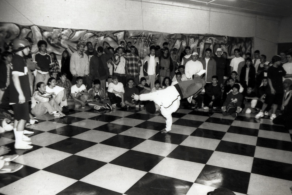 Breakdance contest in Los Angeles, Ca.