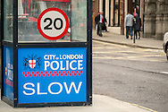 City of London Police Traffic Check Point, London, Britain - Mar 2015