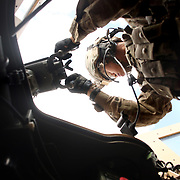 The gunner turret as viewed from inside an MRAP.