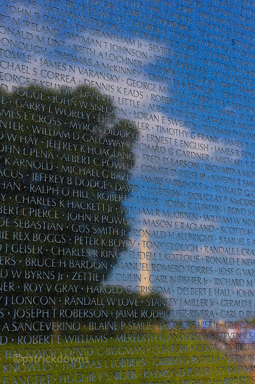 """Vietnam Memorial – """"The Wall"""" on a gorgeous summer day."""
