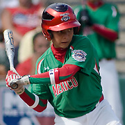 8/22/10 Aberdeen, MD: Mexico short stop Luis Urias (9) hit a home-run in the bottom of the fourth inning scoring Santa Cruz and Moreno at The Cal Ripken World Series in Aberdeen MD. Credit: Saquan Stimpson/ Southcreek Global