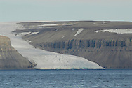 Glacier at Maxwell Bay on Devon Island.  Lancaster Sound. HIgh Arctic. Canada<br />