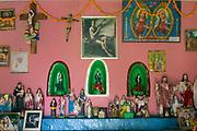 Interior of small chapel on Kelani Valley Estate.