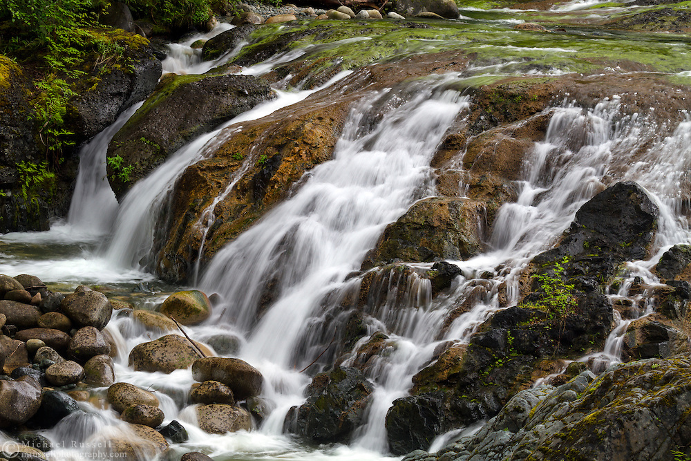 Falls at Englishman River Falls Provincial Park in Errington, British Columbia, Canada