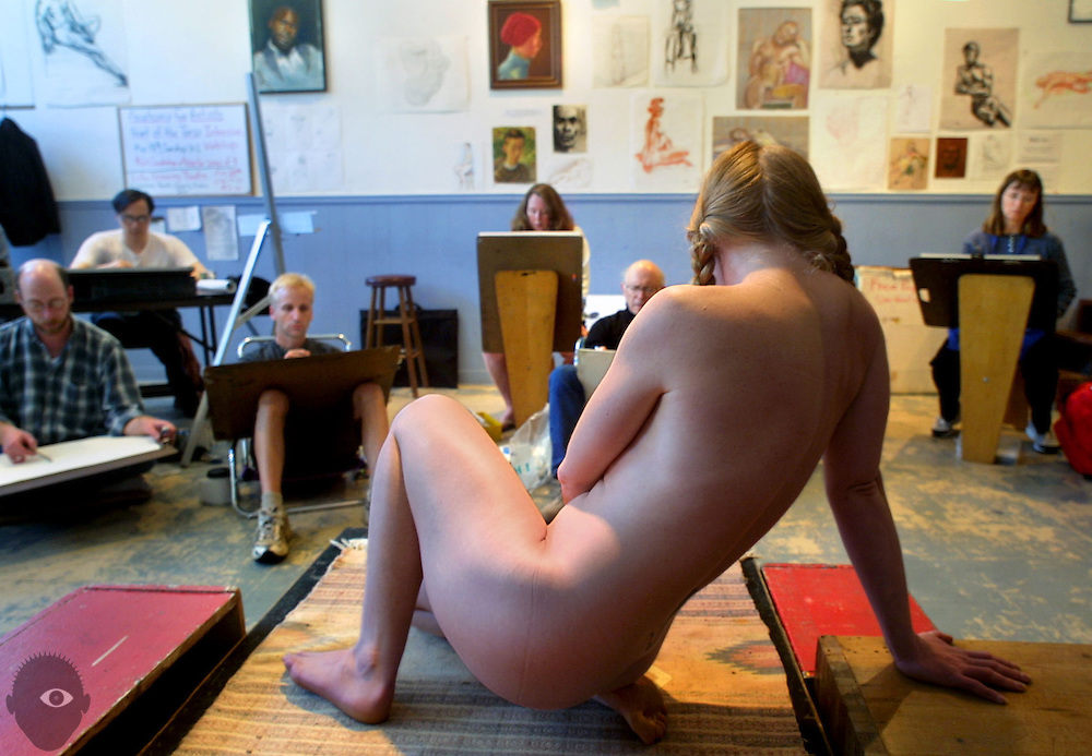 Hipbone Studio caters to a niche clientele of Portland artists who can't afford to pay the high rates charged by professional models. Expert models like Sara Thompson still give them the study of human form they wish but at a more affordable price.
