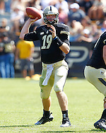 WEST LAFAYETTE, IN - SEPTEMBER 15:  Quarterback Caleb TerBush #19 of the Purdue Boilermakers throws the ball against the Eastern Michigan Eagles  at Ross-Ade Stadium on September 15, 2012 in West Lafayette, Indiana. (Photo by Michael Hickey/Getty Images)***Local Caption***Caleb TerBush