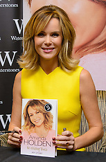 OCT 26 2013 Amanda Holden signs copies of her new book No Holding Back