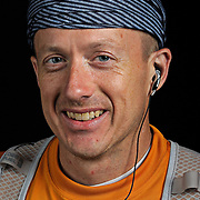 "Portrait of ultra marathon runner Daniel ""Sniper"" Snipes of Mechanicsville, VA,moments after completing the Grind Stone 100 Mile ultra marathon in Swoope, VA, Friday, Oct. 04, 2008...Gallup completed the race in 27 hours, 36 minutes and 16 seconds...The Grindstone is the hardest 100 mile race east of the 100th meridian. ."