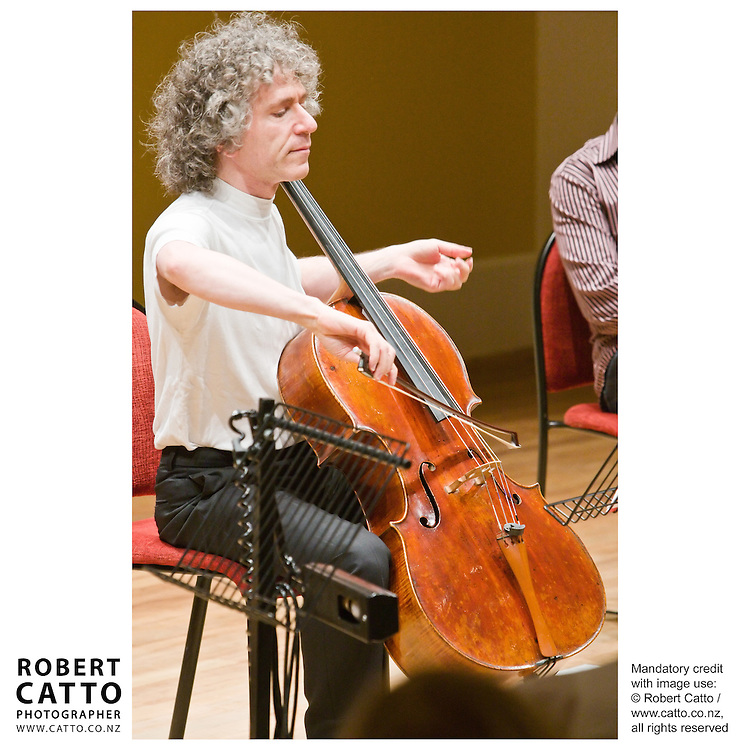 Steven Isserlis performs 'Why Handel Waggled His Wig' during the New Zealand International Arts Festival 2008, in Wellington.