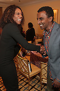 15 September 2010-New York, NY- l to r: Lyndrea Price and Marcus Samuelesson at The LeQuan Smith 2011 Spring/Summer Fashion Show held at The Pennisula Hotel on September 15, 2010 in New York City. ..LaQuan Smith has designed custom fashions for artists including Lady Gaga, Rihanna, Aubrey O'day, Amerie and more. Smith's New York Fashion Week debut was held on February 15, 2010 and he has been featured in many media outlets including The New York Times, New York Daily News and Studio Magazine.