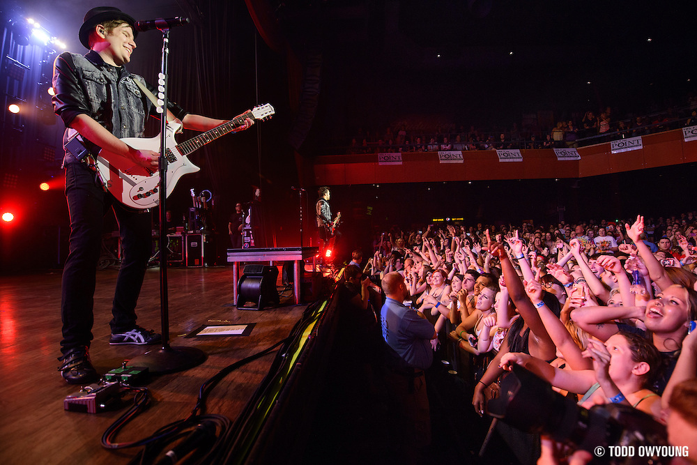 "Fall Out Boy performing to a sold out crowd at the Pageant in St. Louis on June 28, 2013 on their tour for ""Save Rock and Roll."""