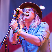 "COLUMBIA, MD - October 6th, 2012 - Allen Stone performs at the 2012 Virgin Mobile FreeFest in Columbia, MD. His set consisted of original material and a cover of Bob Marley's ""Is This Love.""  (Photo by Kyle Gustafson / For The Washington Post)"