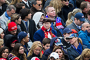 WASHINGTON, USA - January 20: Supporters, some in historic costume, watch the 58th U.S. Presidential Inauguration where President-elect Donald Trump will be sworn in as the 45th President of the United States of America in Washington, USA on January 20, 2017.