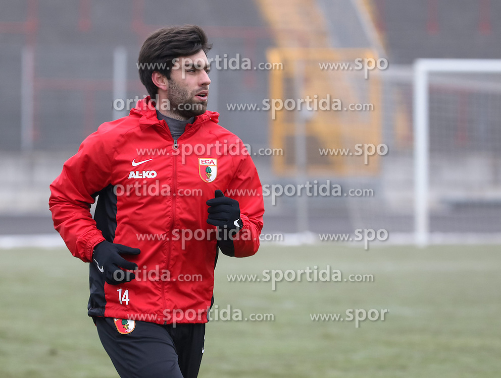 17.02.2015, Trainingsgel&auml;nde, Augsburg, GER, 1. FBL, FC Augsburg, Training, im Bild Jan Moravek (FC Augsburg #14), beginnt mit Lauftraining nach langer Verletzungspause, // during a trainingssession of the german 1st bundesliga club FC Augsburg at the Trainingsgel&auml;nde in Augsburg, Germany on 2015/02/17. EXPA Pictures &copy; 2015, PhotoCredit: EXPA/ Eibner-Pressefoto/ Krieger<br /> <br /> *****ATTENTION - OUT of GER*****