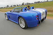 2010 DRB Cobra 540 Roadster - Voodoo Blue.Lake Benalla, Benalla, Victoria.24th of July 2010 .Kit car based on the Ford Shelby Cobra Concept which was unveiled at the 2004 North American International Auto Show in Detroit, Michigan. The Shelby Cobra concept is a roadster based on the original Shelby Cobra that Carroll Shelby developed in 1964.(C) Joel Strickland Photographics.Use information: This image is intended for Editorial use only (e.g. news or commentary, print or electronic). Any commercial or promotional use requires additional clearance.