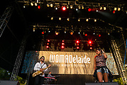 Ana Tijoux  (R) from Latin America performs at Womadelaide 2017 Music Festival held between 10 - 13 March 2017 in Adelaide, South Australia