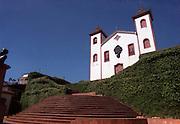 Igreja do Carmo in Serro, cidade built na Serra do Espinhaco during the gold and diamond boom in the early 18th century, Minas Gerais, Brazil