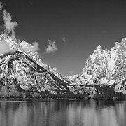 Grand Tetons - South Jackson Lake, WY - Black & White