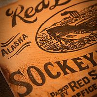 Vintage fish box, Ketchikan, Alaska
