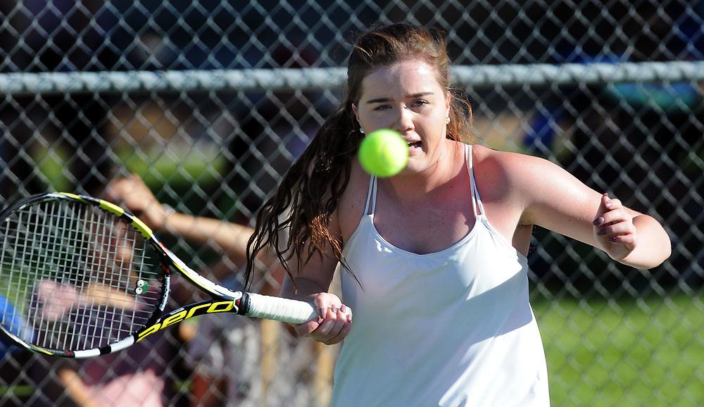girls state tennis4/sports/jim thompson/ Girls 6A State Tennis championships.  Thursday May. 04, 2017. (Jim Thompson/Albuquerque Journal)