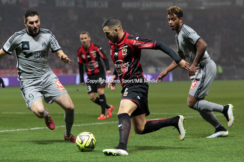 Andre Pierre GIGNAC / Valentin EYSSERIC  - 23.01.2015 - Nice / Marseille - 22eme journee de Ligue 1<br />Photo : Jean Christophe Magnenet / Icon Sport