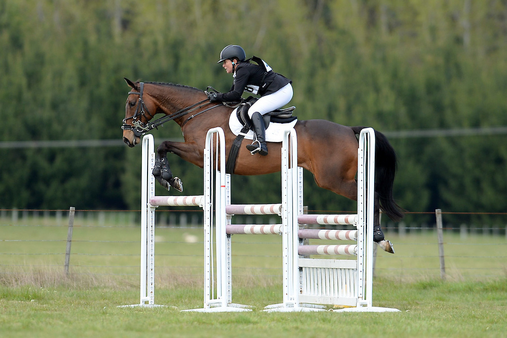 Angela Lloyd rides Song in the FEI 3 * Show Jumping Phase, NEC Spring Horse Trial, National Equestrian Centre, Taupo, Saturday, October 11, 2014. Credit:  SNPA /Sarah Alderman