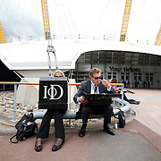 Institute of Directors Annual Convention Delegates enjoying lunch outside the O2