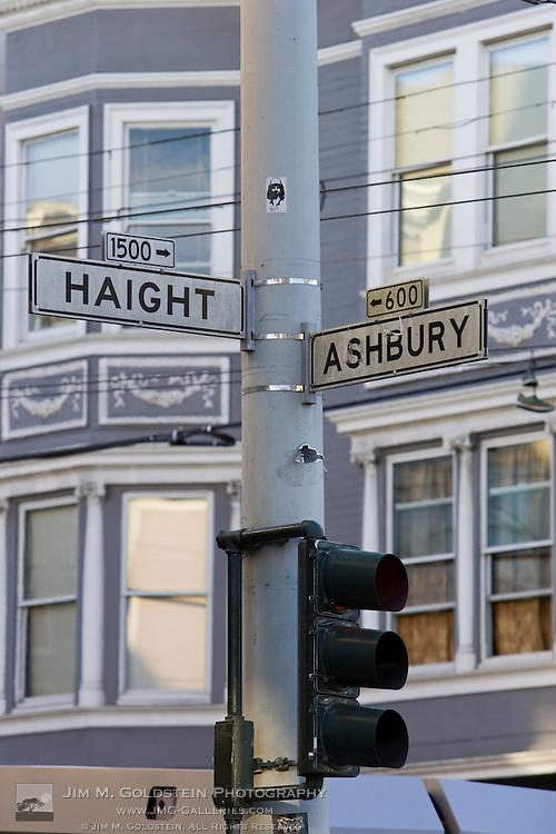 The famous Haight Ashbury street signs - San Francisco, California