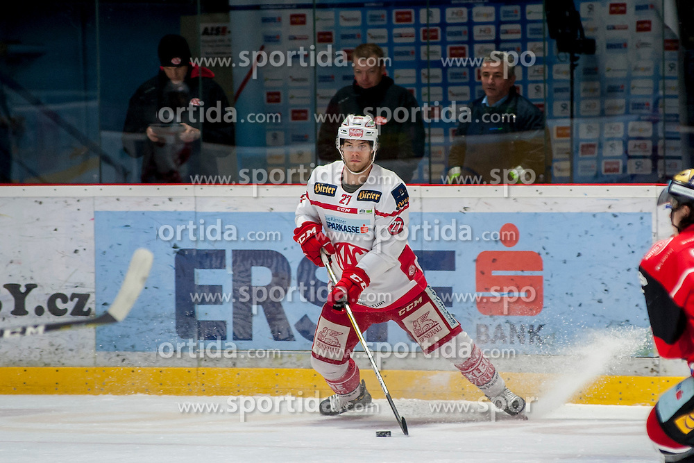 13.01.2017, Ice Rink, Znojmo, CZE, EBEL, HC Orli Znojmo vs EC KAC, 43. Runde, im Bild Thomas Hundertpfund (EC KAC) // during the Erste Bank Icehockey League 43th round match between HC Orli Znojmo and EC KAC at the Ice Rink in Znojmo, Czech Republic on 2017/01/13. EXPA Pictures © 2017, PhotoCredit: EXPA/ Rostislav Pfeffer