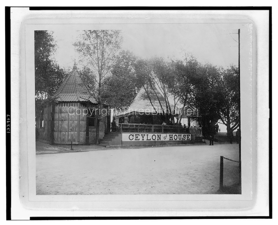 Ceylon tea house at the World's Columbian Exposition, Chicago, Ill.World's Columbian Exposition--(1893 :--Chicago, Ill.)--Exhibitions &amp; displays No known restrictions on publication in the U.S. Use elsewhere may be restricted by other countries' laws. For general information see &quot;Copyright and Other Restrictions...&quot; (http://lcweb.loc.gov/rr/print/195_copr.html)<br />