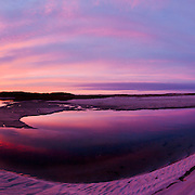 A stunning sunset reflecting in Quivet Creek.